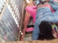 amateur indian duo caught while pummeling in barn