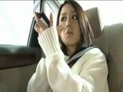pretty asian damsel fucky-fucky inhale in the car