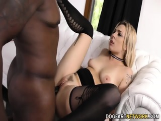 Dahlia Sky Loves Anal Big Black Cock