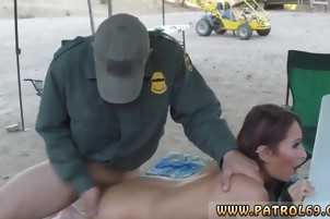 Gorgeous Latin babe fucked at border patrol campground