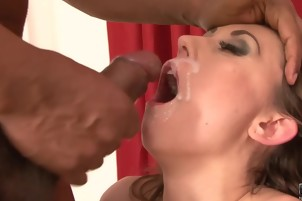 Interracial Blowjob Cumshot Compilation Girls Sucking