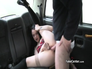 Horny Teen Fucked On Backseat Of Taxi