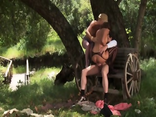Two Girls And One Man Having Orgy In The Middle Of Nowhere