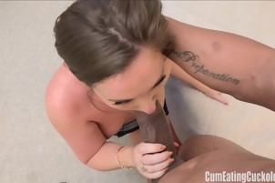Maddy Oreilly takes big black cock while her husband watches