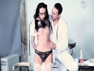 BadTime Stories - Pissing, BDSM And Speculum Play With Naughty Doctors And German Slave Babe