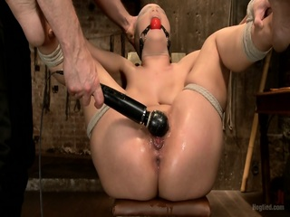 Toys In Tied Chick's Pussy