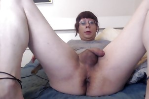 Trans Playtime with dildo