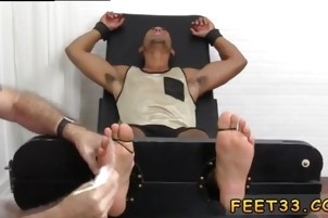 Gay boy twink feet Mikey Tickle d In The Tickle Chair