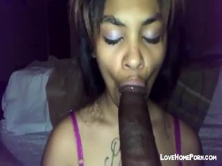 Cute Black Teen Sucks Massive Huge Black Dick