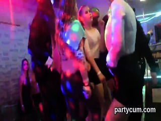 Hot nymphos get entirely mad and stripped at hardcore party