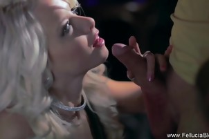 Party Blowjob In The Club From Blondy Babe