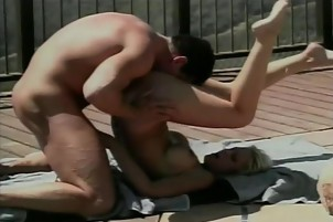 Gorgeous blonde babe gets her pussy drilled