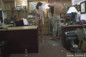 Hot brunette MILF is fucked from behind by her boss
