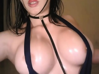 Hot Oiled Teen Likes To Show Off Her Big Boobs On Webcam