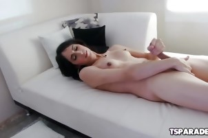 Cute Tgirl Roxxy Thorns Having Fun Alone