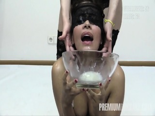 Premium Bukkake - Victoria Swallows 81 Huge Mouthful Cum Loads
