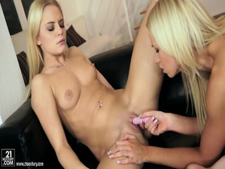 Two Blondes Have Fun With Each Other