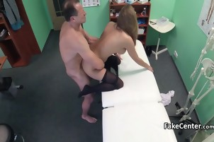 Busty gal takes cock after massage