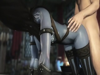 3D Dark Elf Milf Has An Affair With Human Knight Hentai