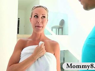 Mature Brandi Love gives teen couple lessons in sex