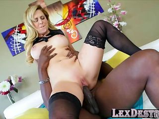 MILF in tight lingerie Cherie DeVille gets fucked hard by Lex