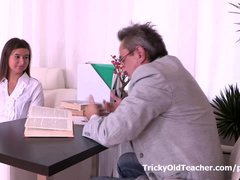 Young inexperienced Maia wants her teacher's cock more often