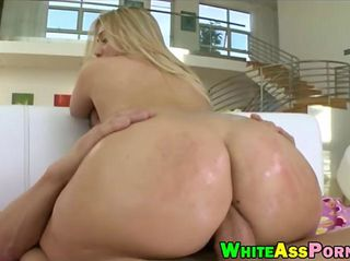 Big butt AJ Applegate anal reamed real hard on the couch