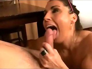 Cheating wife suck young cock