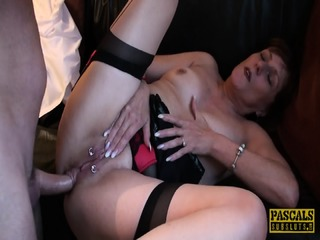 Granny With Stockings Gets Pounded