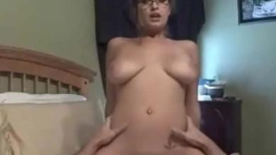 Sexxy Brandon:brunette with glasses goes for teacher roleplay while fucking