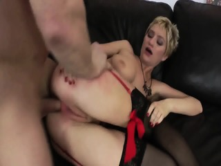 Anal With Girl In Sexy Red Lingerie