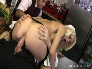 Sexy Blonde Ass Fucked In The Kitchen