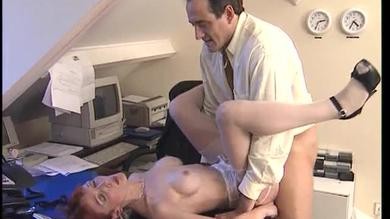 Mature French secretary gets a pounding