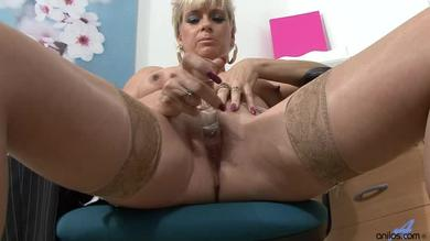 The boss is busy masturbating