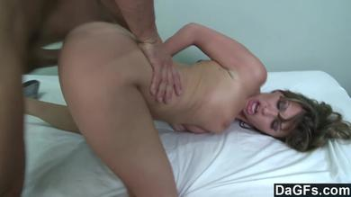 Sexy mercantile bitch is getting a huge boner in her pussy