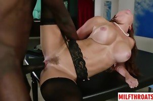 Big tits milf cuckold and facial