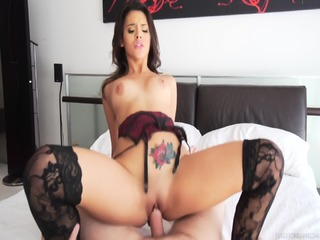 Sexy Whore With Stockings Rides Dick