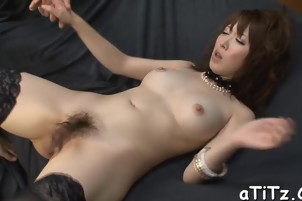 Sultry Japanese arouses with blowjob and tits fucking