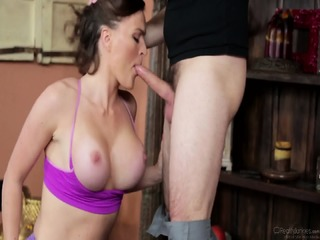 Busty Lady Fucked During Excercises