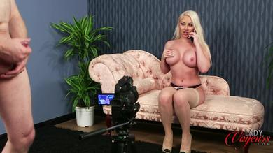 Beautiful big tits blonde loves teasing cock JOI