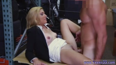 Two guys fucking a girl hardcore Hot Milf Banged At The PawnSHop