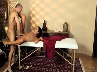 Sensual Action On Massage Table