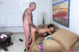 Old man sexy female Popping Pills!