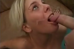 Hot German babe swallows a lot of cum