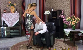 """Maria&Monty sexy nylon action"