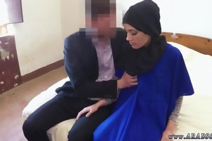 Arab train 21 yr old refugee in my hotel room for sex