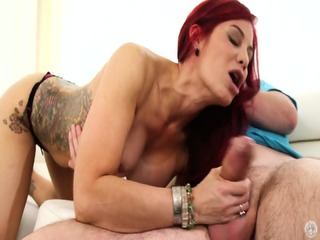 Redhead Mom Blows Dick