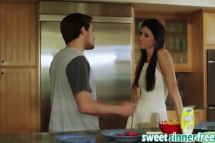 Housewife India Summer Riding Big Dick Kitchen