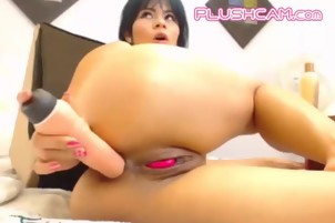 Big Ass Milf Enjoy PLUSHCAM Lovense Pink Tail Inside Pussy