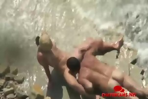 Public Beach Oral Sex Spycam